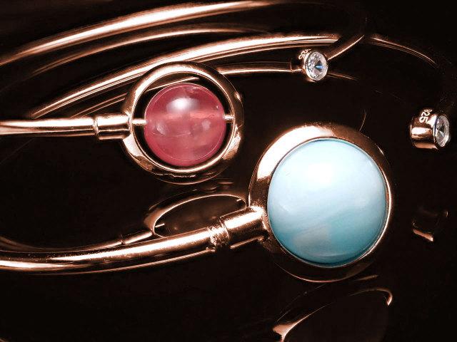 ピンクゴールド デザイン ブレスレット 10mmまでのビーズ石対応 自由な組み換えで自分だけの1品を SILVER925製 フリーサイズ