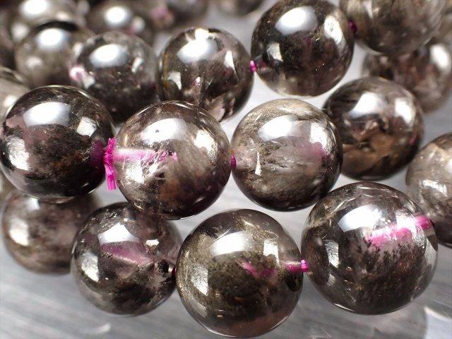 ブレーデッドクォーツ(束状結晶入り水晶)ブレスレット 7.5mm-8mm×24珠前後 パワフル曇天水晶 自然界のエネルギーが宿る石 透明感あり 束状結晶入り 動画あり カナダ産