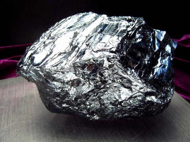 テラヘルツ鉱石 原石 最大幅104mm 577g つやつや光沢 話題の 高純度 テラヘルツ 鉱石 2020年 検査機関にて検査済み 本物保証 返品保証