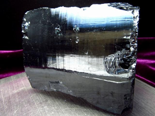 テラヘルツ鉱石 原石 最大幅96mm 615g つやつや光沢 話題の 高純度 テラヘルツ 鉱石 2020年 検査機関にて検査済み 本物保証 返品保証