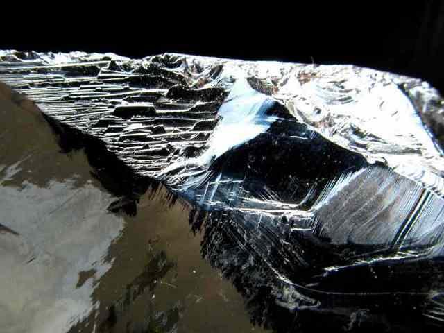 テラヘルツ鉱石 原石 最大幅101mm 重さ598g つやつや光沢 話題の 高純度 テラヘルツ 鉱石 2020年 検査機関にて検査済み 本物保証 返品保証