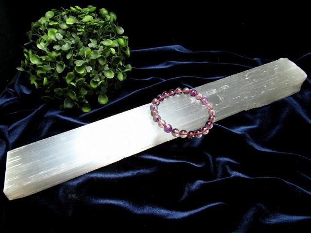 セレナイト 棒状 原石 長さ約36cm 重さ約735g ナチュラルな削りだし カルマの浄化・癒しの天然石インテリア ナチュラルセレナイト 透石膏 聖母マリアのガラス