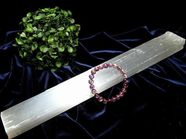 セレナイト 棒状 原石 長さ約36cm 重さ約596g ナチュラルな削りだし カルマの浄化・癒しの天然石インテリア ナチュラルセレナイト 透石膏 聖母マリアのガラス