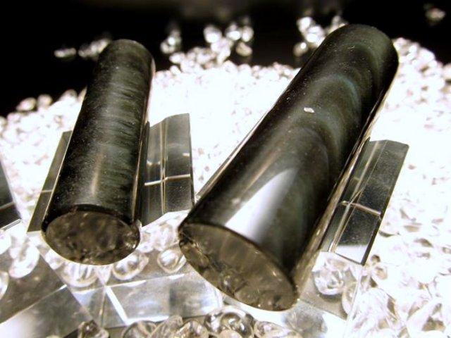 3A オブシディアン(黒曜石) 印鑑 印面15mm 天然石 宝石印鑑 認印・銀行印に 高級印材 印鑑 印材
