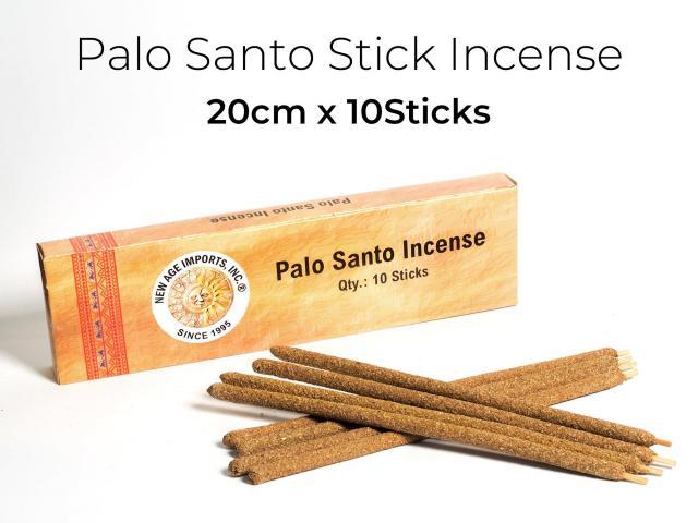 スティック香 パロサント インセンス 1本約20cm×10本入り 手作り ハンドロール 聖なる樹ホーリーツリー 古代インカ帝国の魔除け エクアドル産