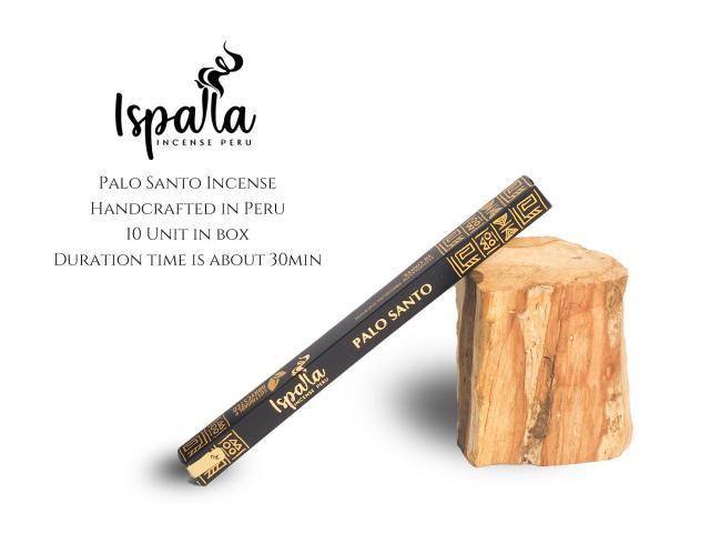 ペルー産 パロサントスティック香 1本約20cm(10本入り) ISPALLA イスパラ 手作りハンドロールインセンス 聖なる樹ホーリーツリー 古代インカ帝国の魔除け 天然石の浄化にも エクアドル産