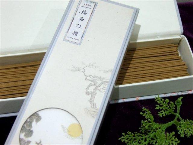臻品白壇 1箱約200本入り 1本約20cm スティック香 中国産