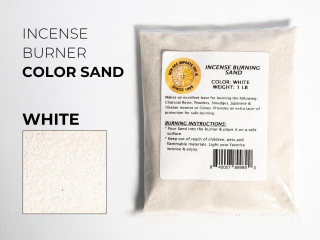 香炉用 色砂(香炉砂)インセンスバーナー用 カラーサンド 1袋 約450g入り ホワイト