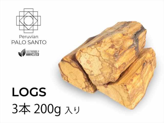 ペルー産 パロサントログス 約200gパック 一袋3本入り 希少なパロサント原木の輪切り 聖なる樹 ホーリーツリー丸太