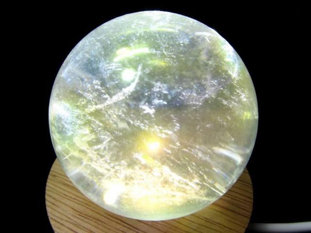 コスモオーラクォーツ 丸玉 台座付き 直径約51mm 重さ183g エンジェルオーラ 一点もの 蒸着水晶