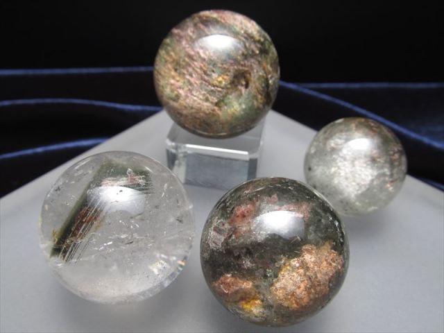 超透明 ガーデンクォーツ丸玉 直径約32mm-34mm前後 ミニサイズ丸玉 ガーデン水晶 ガーデンクォーツ 絶景庭園 ブラジル産