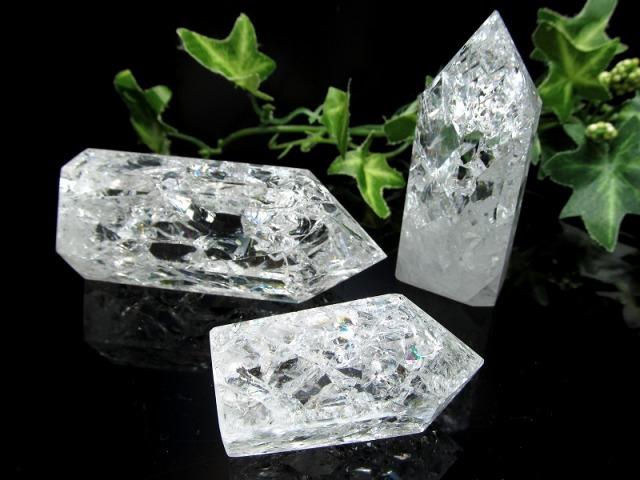 レインボークラック水晶 ポイント 80グラム-90グラム 開運・幸運・浄化の石 大人気浄化アイテム ブラジル産