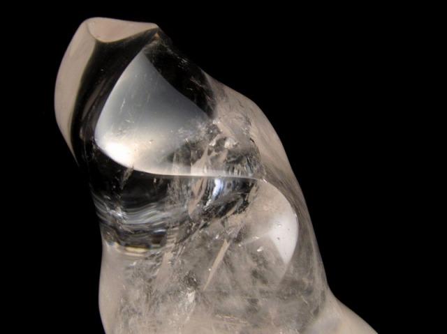 超希少形! 水晶ツイストシェイプ置物 高さ97mm 重さ311g 水晶ねじれ磨き1点物 マダガスカル産