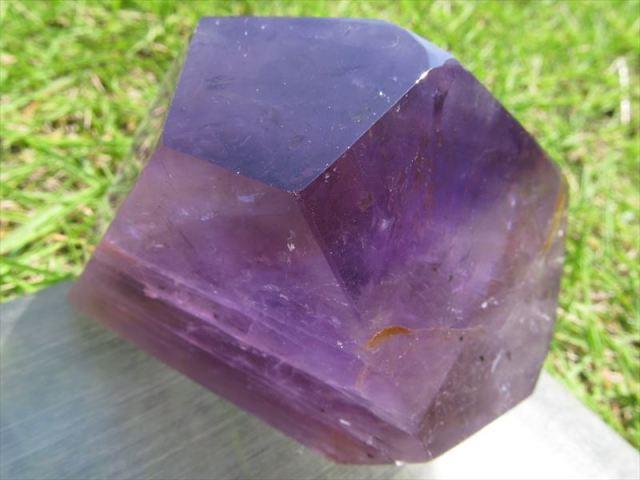 超透明 濃厚発色 不定形 アメジスト ポリッシュ 原石置物 最大幅約65mm 重さ約227g 紫水晶 美麗パープル パワーストーン 愛の守護石 一点もの ブラジル産