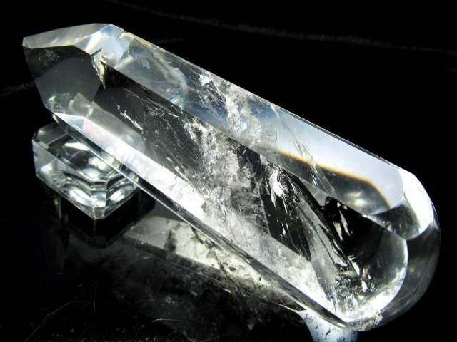 超透明 天然水晶 マッサージワンド 長さ100.5mm 重さ157g 老廃物の除去に ブラジル産