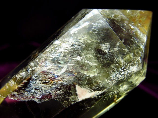5A 超透明 雷神ファントムクォーツ ダブルポイント (双剣) 重さ 77g ファントム入り 運気を呼び込むパワフルな石 黄水晶