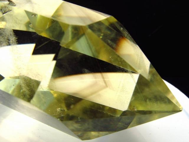 5A 虹入り 超透明 雷神ファントムクォーツ ダブルポイント (双剣) 重さ 83g ファントム入り 運気を呼び込むパワフルな石 黄水晶