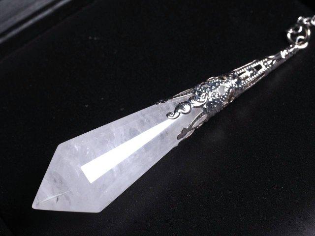 ヴィンテージ調 ラグジュアリー装飾 水晶 ペンデュラム 縦約75mm-80mm 言わずと知れた大定番天然石 ブラジル産