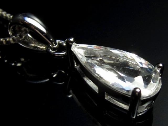 世界一波動の高い石!!【鑑別書付】【フェナカイト ペアシェイプミックスカット ペンダントトップ ケース付き】石サイズ縦約11.4mm 1.45ct SILVER925 最高品質フェナカイト【ブラジル産】