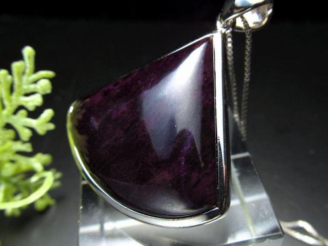 超人気入荷 極上濃い紫 4A スギライト(杉石)ペンダントトップ 12.9g 世界三大ヒーリング&守護 一点もの 南アフリカ産