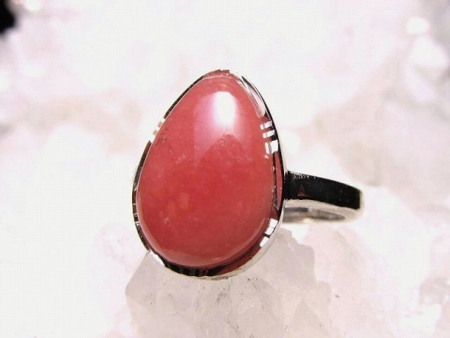 超人気 インカローズ デザインリング フリーサイズ 約9号~ 石サイズ 13mm×9.5mm 指輪 リング