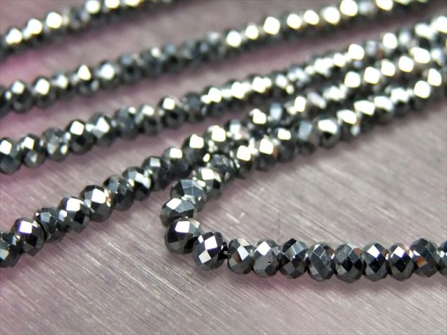 テラヘルツ鉱石 キラキラボタンカットビーズ 連売り 3mm珠 一連 約39cm 極小サイズ 話題の 高純度 テラヘルツ 鉱石 2020年 検査機関にて検査済み 本物保証 返品保証