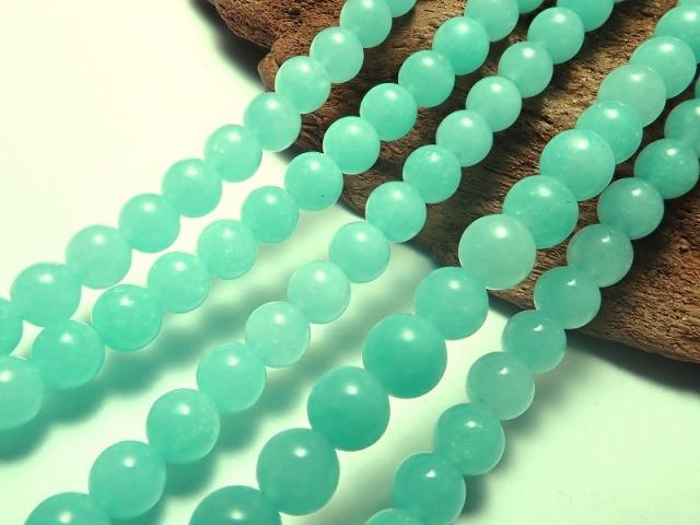 アマゾナイト 4-4.5mm珠 一連 約38cm 極上 天然石 ビーズ モザンビーク産