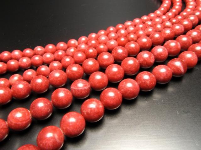 激レア 5A チューライト 連 6mm珠 一連 約39cm NEWストーン登場! 流通量激少のレア石 赤いゾイサイト 極上 天然石 ビーズ パワーストーン ノルウェー産