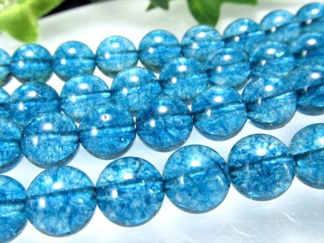 今回は濃いめ 2A ロンドンブルー クォーツ 12.5-13mm珠 一連 約38cm 透明キャンディーカラー キャンディーカラー水晶 極上 天然石 ビーズ パワーストーン 2021年2月入荷画像有り