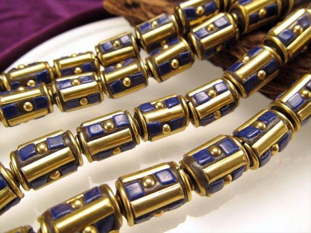 アジアンテイストデザインビーズ 長さ約13mm 太さ約9mm 10個セット 人工ビーズ DZ012