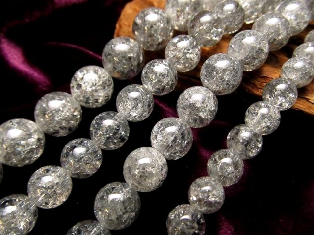 激安宣言 シルバーオーラタイプ レインボー水晶(爆裂水晶) 8mm珠 一連 約39cm ブラジル産 geki