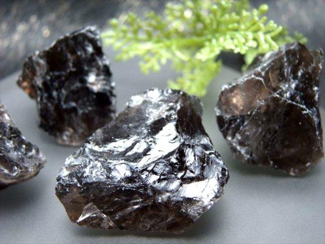 スモーキークォーツ ロッククリスタル(小さめ) 約200g入り 6-10個入り 約3-5cm ナチュラルなラフ原石 ブラジル産