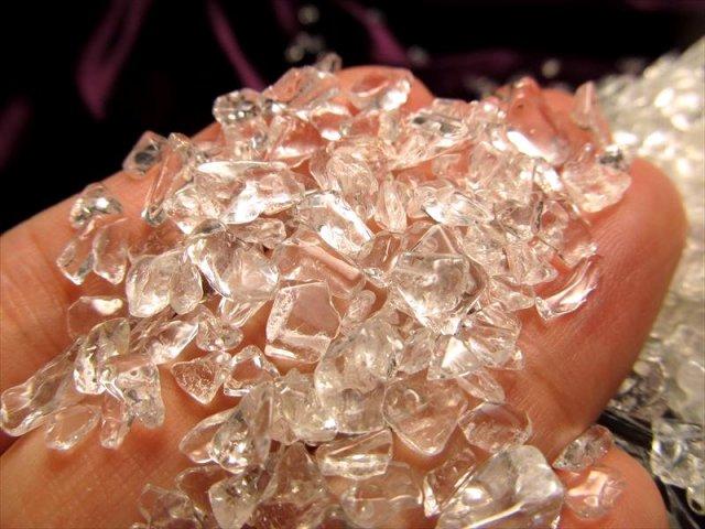 2A 透明天然水晶 さざれ キラキラ小粒タイプ 200g入り クリスタル ブラジル産