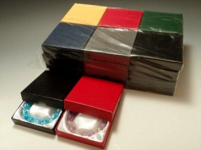 24個入り 大人レザー調ブレスレットケース ディープトーン6色MIX ケースサイズ 約9cm×9cm ブレスレット用 化粧箱 アソート 高品質