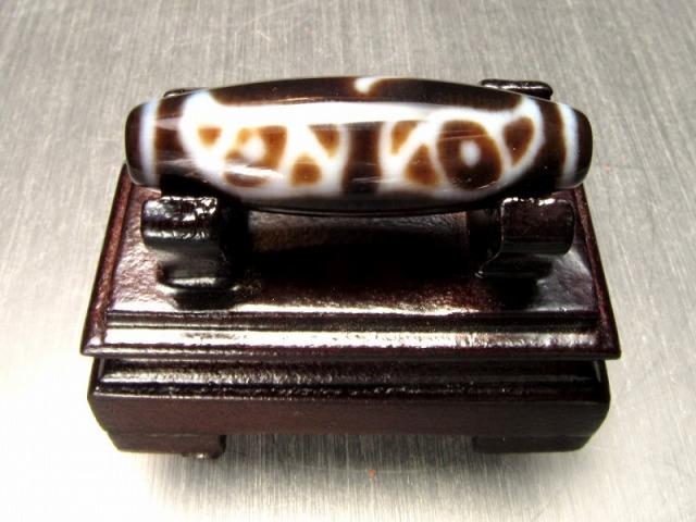 龍仏眼 梵字天珠 40mm前後 チベット発祥の厄除け・開運お守り 極上 天然石