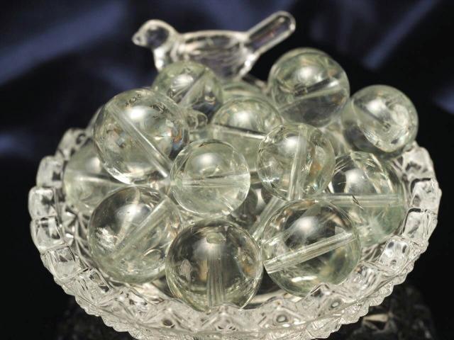 一粒売り 極上透明 超透明プラシオライト グリーンアメジスト ビーズ石 約8mm-8.5mm前後 バラ売り ブラジル産