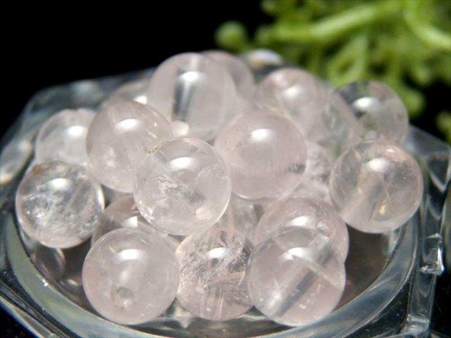 1粒売り 超透明ピンクレムリアン クォーツ 約6.5mm-7mm珠 清らかな力をもつ全能の石 淡いピンクローズ ロシア・ウラル産