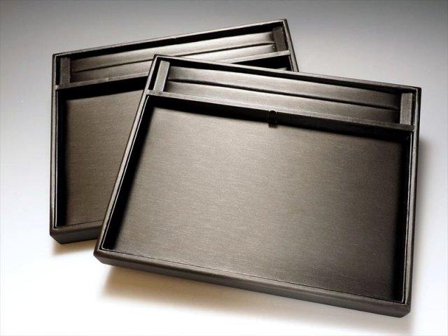 ビーズ作業トレイ デザインボード ブラック 横25cm×縦20cm 便利な溝付き