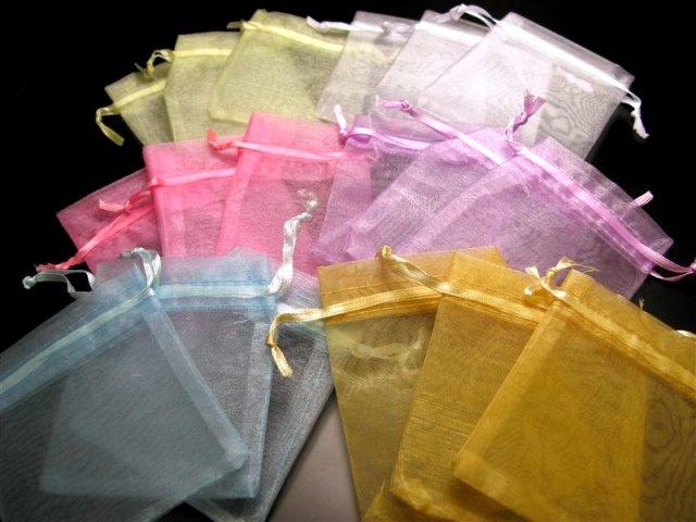 Sサイズ 10枚入 ブレス用オーガンジー袋 業務用 全6色