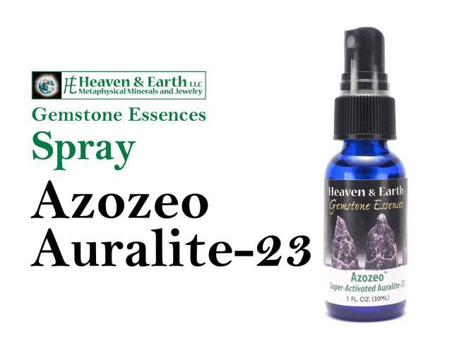 スプレータイプ アゾゼオ オーラライト23 ジェムストーンエッセンス 30ml入り 天然石の浄化・活性化・チャージ アーカンソー州の湧き水使用 アルコール10%使用