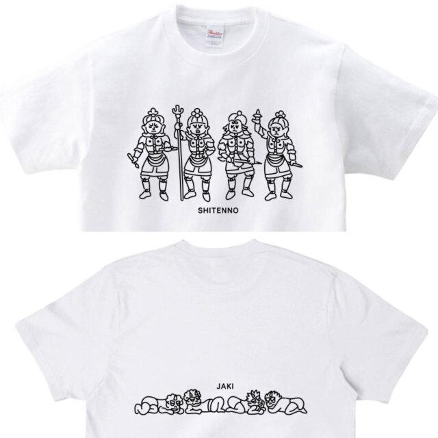 四天王と邪鬼Tシャツトップ