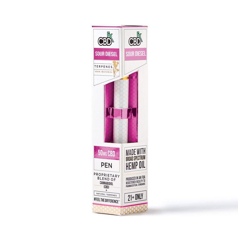 CBD fx CBD 50mg含有 Terpenes Vape Pen サワーディーゼル