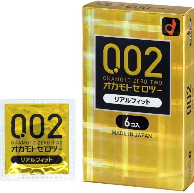 オカモトゼロツー 0.02 リアルフィット (6個入り)