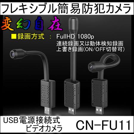 USB電源接続式フレキシブル防犯ビデオカメラ【CN-FU11】