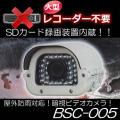 大型レコーダー不要!本体でSDカード録画できる屋外防雨型動体検知暗視ビデオカメラ【BSC-005】