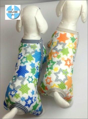 クークチュール クール×クールプラス スターカバーオール(サイド開きタイプ)(2色)10818[犬服]