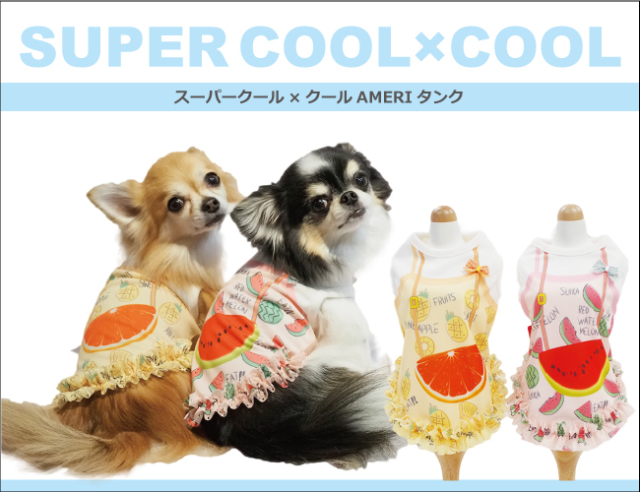 2020夏物新作スーパークール×クール AMERIタンク(2柄)12290[犬服]