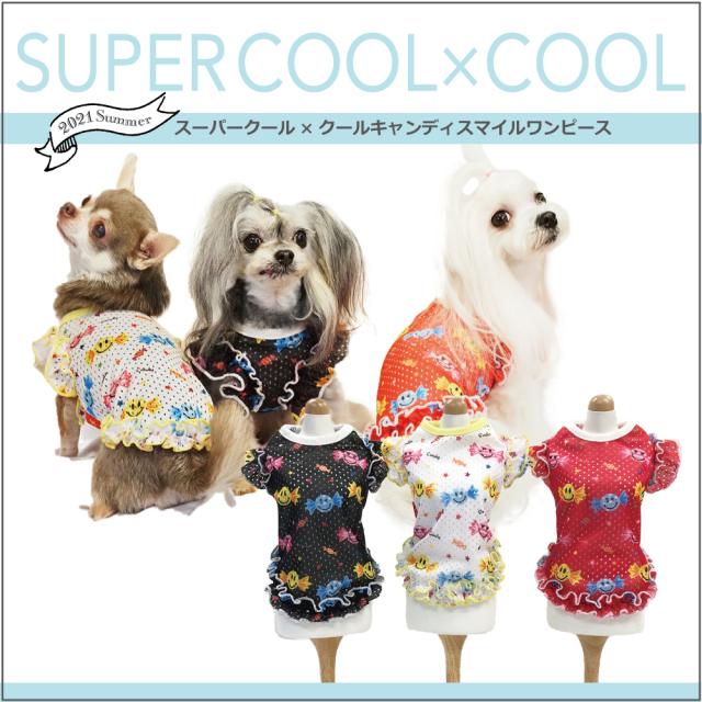 スーパークール×クール [キャンディスマイルワンピース](3色)12331[犬服][SSからFBL]