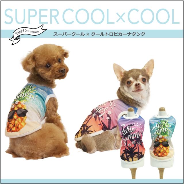 スーパークール×クール [トロピカーナタンク](2柄)12342[犬服][SSから3L]