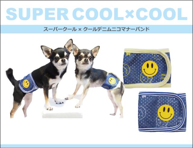 2020夏物新作スーパークール×クール デニムニコマナーバンド(2柄)7213[犬用マナーバンド]